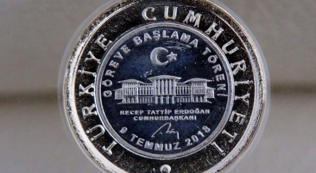 Türkiye'nin Yeni Başkanlık Sistemine Geçişinin Anısına 1 TL Bastırıldı