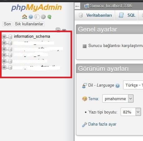 Phpmyadmin Database Adı